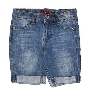 7 For All Mankind | Denim Cuffed Shorts Toddler